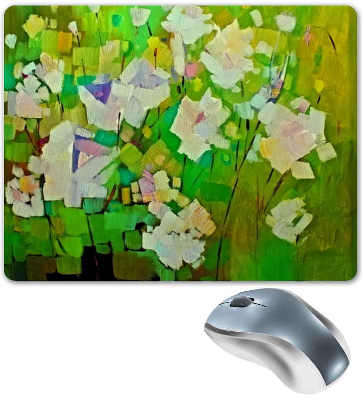Коврик для мышки Printio Весна красками корзина для бумаг deli e9190 12 л круглая металлическая сетка черный