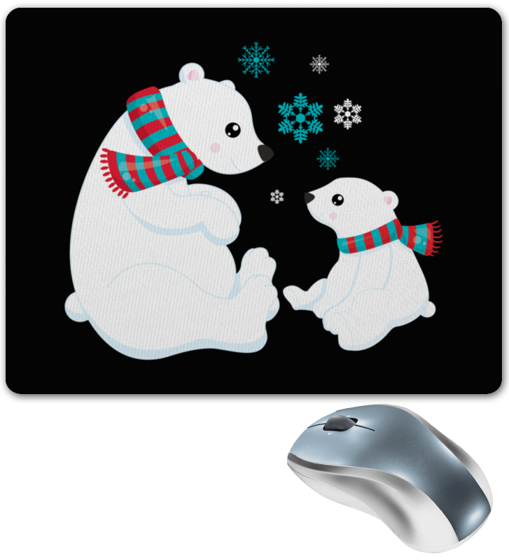 Коврик для мышки Printio Белые медведи