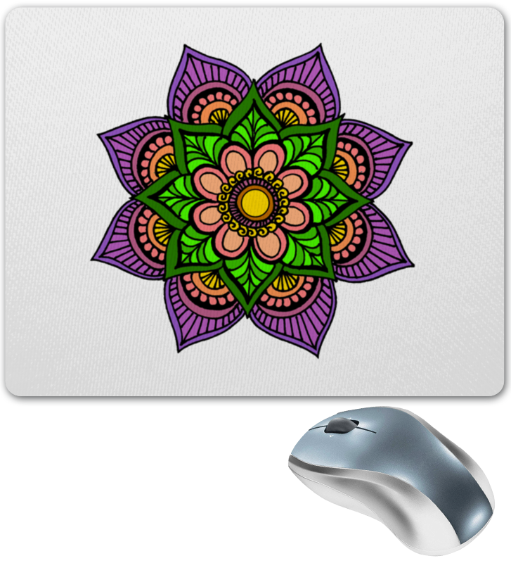 Коврик для мышки Printio Цветок в стиле мехенди цена