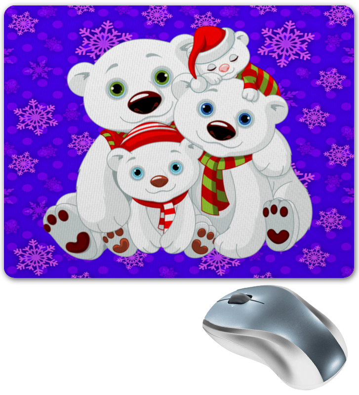 Коврик для мышки Printio Белые медведи свеча белые медведи