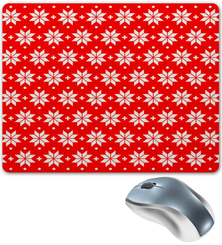 Коврик для мышки Printio Красно-белый узор футляр для картриджей 2 стилуса для приставки ds lite красно белый