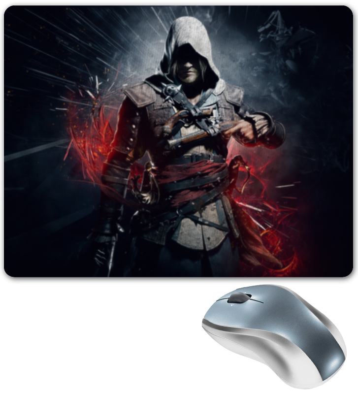 Коврик для мышки Printio Assassin`s creed 4 [sintron] hdmi vga audio universal lcd tv monitor screen controller driver board pc vga hdmi usb interface kit replace v56 v29
