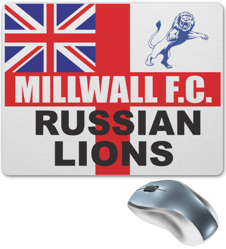 Printio Millwall russian lions mouse pad коврик для мыши trust bigfoot gel mouse pad black
