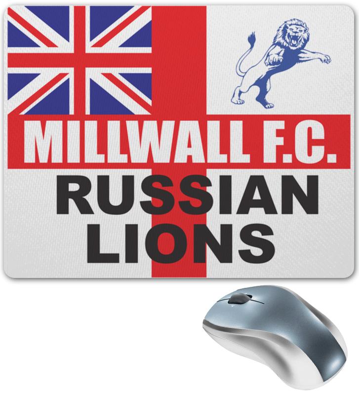 Printio Millwall russian lions mouse pad коврик для мыши trust eco friendly mouse pad цвет зеленый