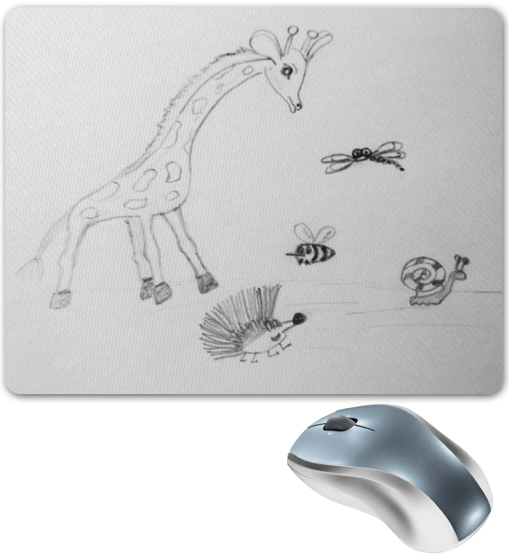 Коврик для мышки Printio Жираф и друзья babyono жираф желтый