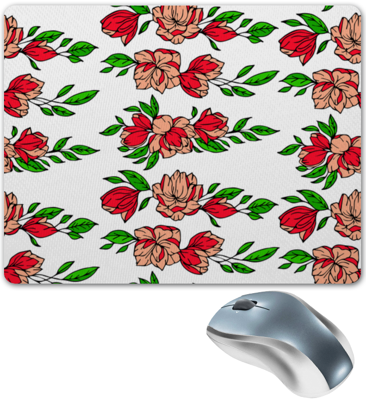 Коврик для мышки Printio Красные цветы коврик для мышки printio цветы мака