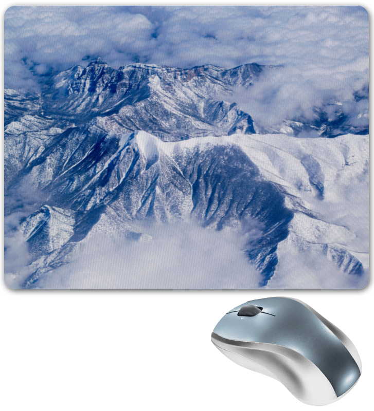 Коврик для мышки Printio Снежные горы коврик для мышки printio горы у берега