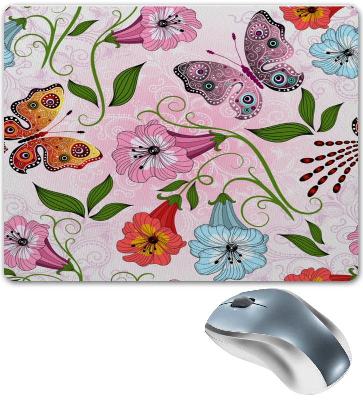 Коврик для мышки Printio Цветы и бабочки флексика коврик пазл цветы