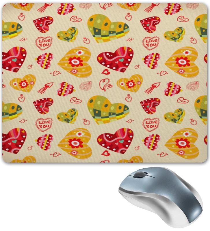 где купить Коврик для мышки Printio Сердечки цветные по лучшей цене