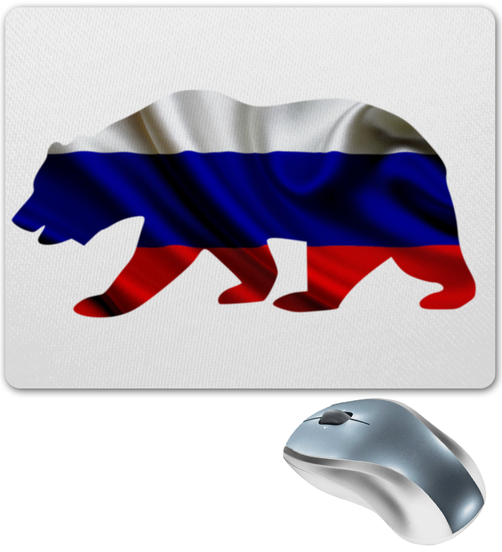 Коврик для мышки Printio Русский медведь цена 2017