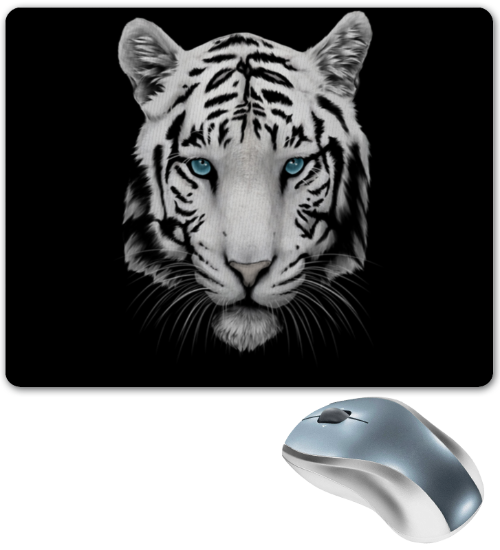 Коврик для мышки Printio Белый тигр