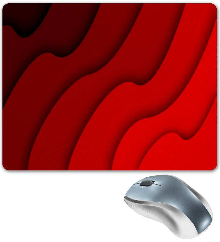 Коврик для мышки Printio Красные волны коврик для мышки printio красные лепестки