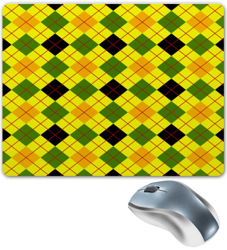 Коврик для мышки Printio Клетка желтая