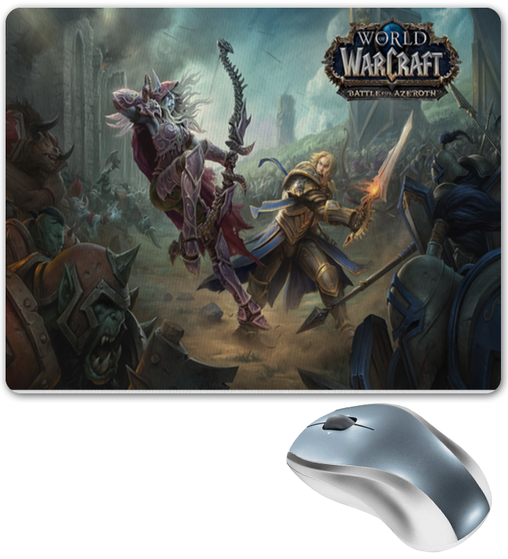 Коврик для мышки Printio World of warcraft battle for azeroth battle for hell s island