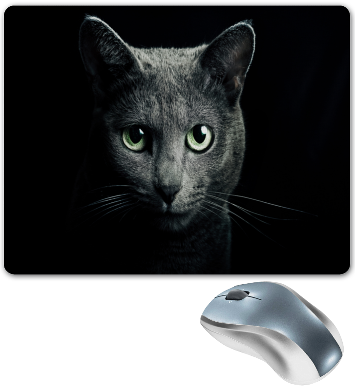 Коврик для мышки Printio Серый кот коврик для мышки printio кот сыр и мышка