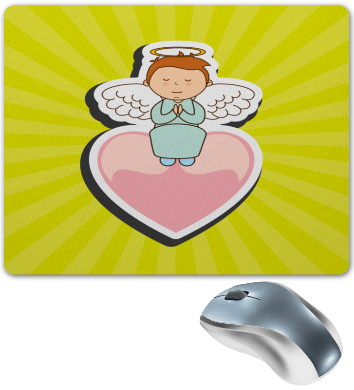 Коврик для мышки Printio Ангелочек колокольчик бронзовый ангелочек