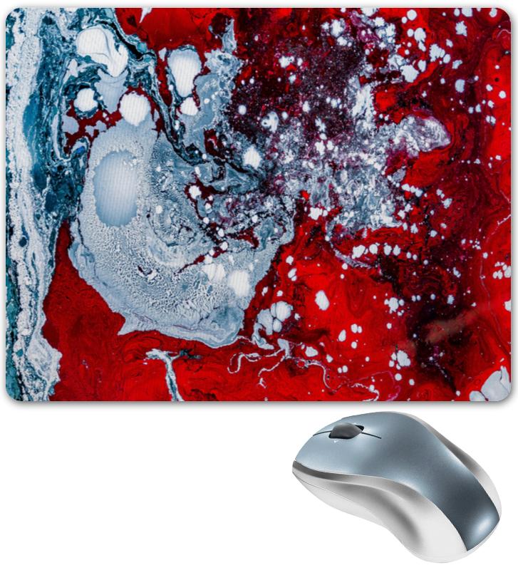 Коврик для мышки Printio Красно-белые краски коврик для мышки printio белые медведи