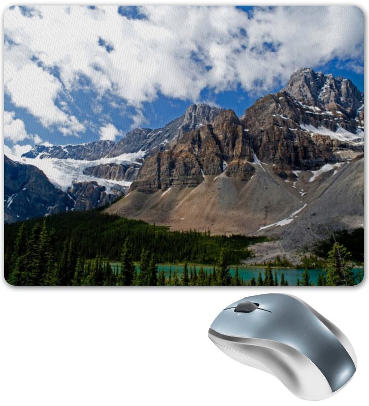 коврик для мышки круглый printio горы и лес Коврик для мышки Printio Лес и горы