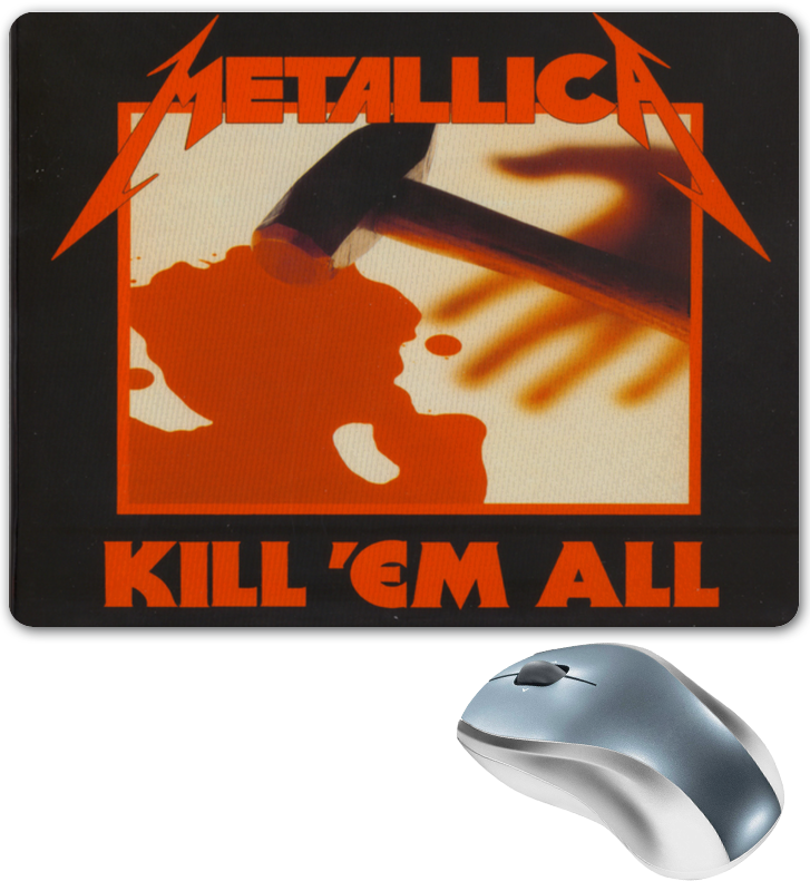 Коврик для мышки Printio «kill'em all» metallica metallica kill em all 3 lp 5 cd dvd