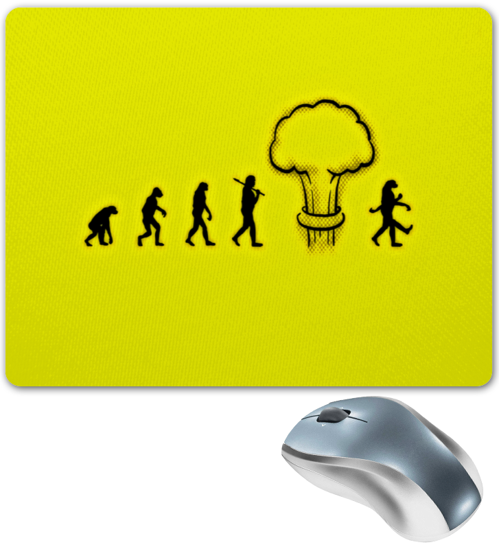 Коврик для мышки Printio Эволюция виргиния эволюция сознания