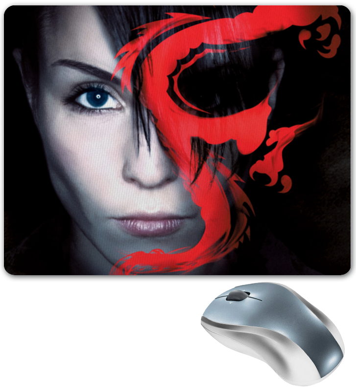 Коврик для мышки Printio Девушка с татуировкой дракона цена