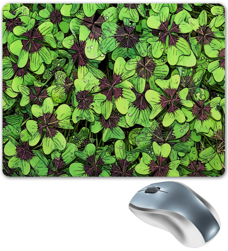 Фото - Printio Зеленые цветы коврик для мышки printio цветы