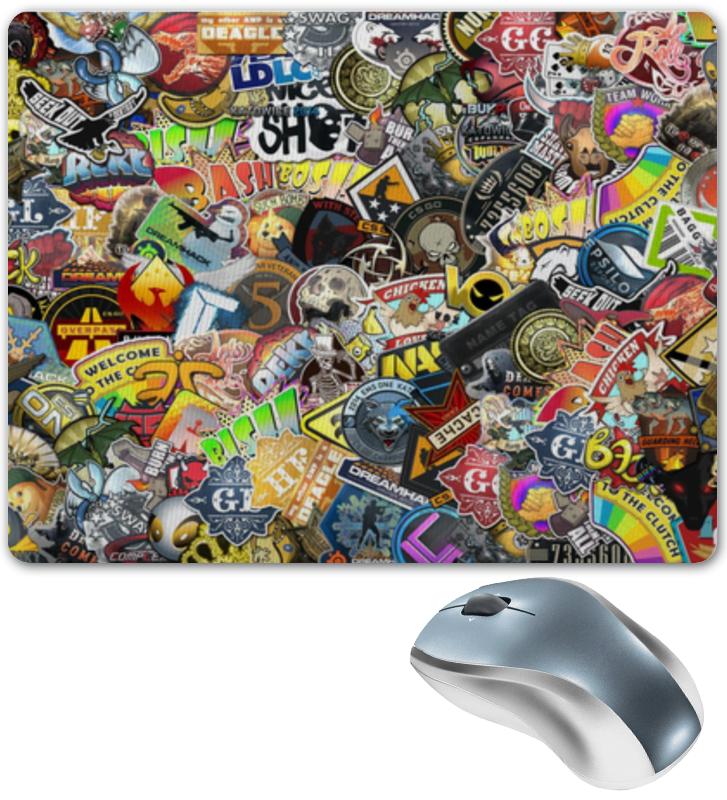 Коврик для мышки Printio Stickers cs:go kiss набор стикеров из страз nail artist metallic stickers