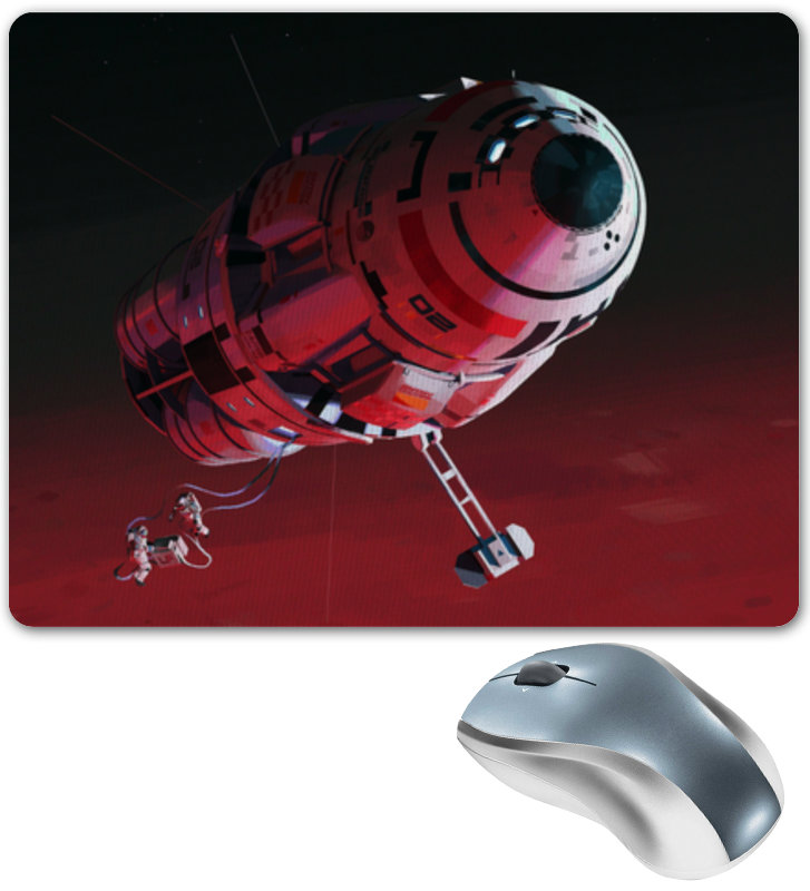 Коврик для мышки Printio Космический корабль город игр конструктор космический корабль будущего