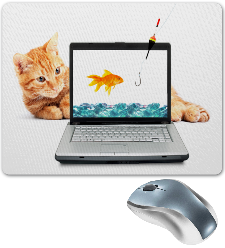 Коврик для мышки Printio Кот и рыбка коврик для мышки printio кот page 6