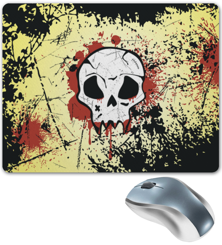 Коврик для мышки Printio Grunge skull