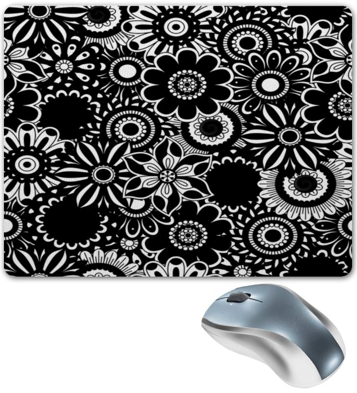 Коврик для мышки Printio Черно-белые цветы коврик для мышки printio белые медведи