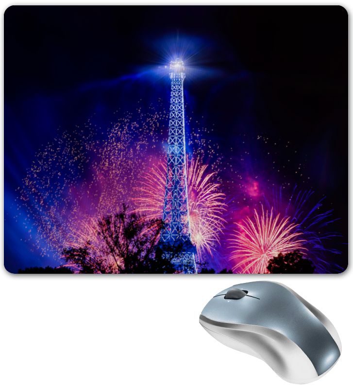 Коврик для мышки Printio Эйфелева башня цена