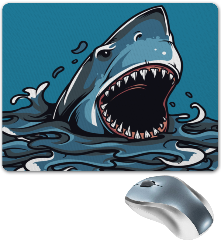 Коврик для мышки Printio Акула серова м клад белой акулы