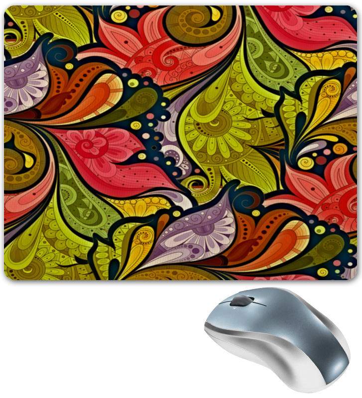 Коврик для мышки Printio Цветочная роспись коврик для мышки printio цветочная цепочка