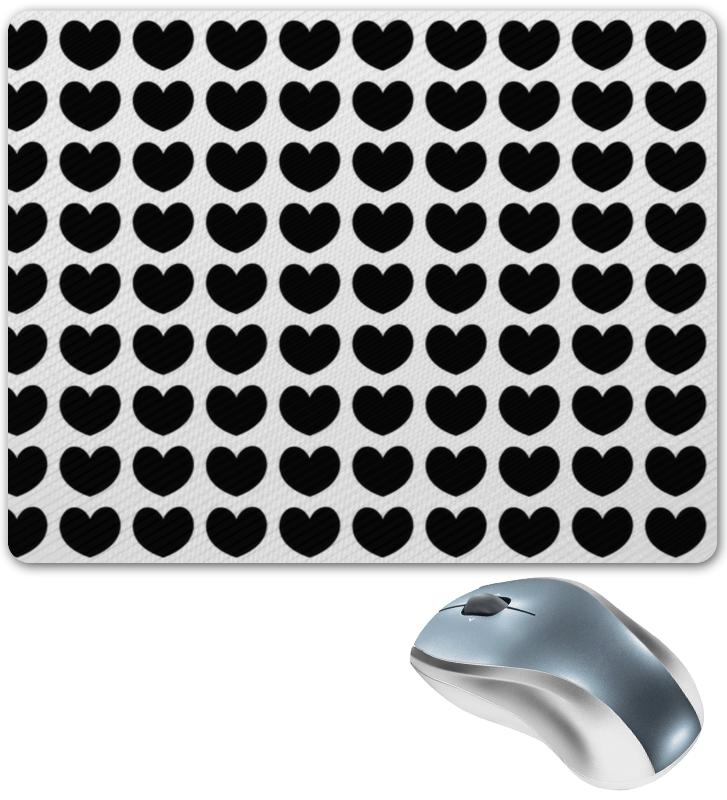 Коврик для мышки Printio Черные сердечки