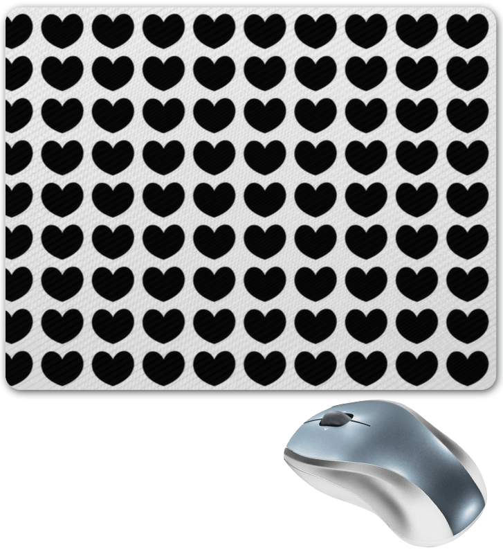 Коврик для мышки Printio Черные сердечки коврик для мышки круглый printio сердечки
