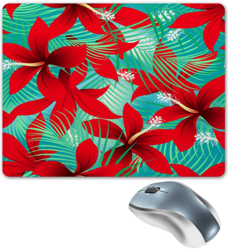 Коврик для мышки Printio Красные цветы коврик для мышки printio красные лепестки