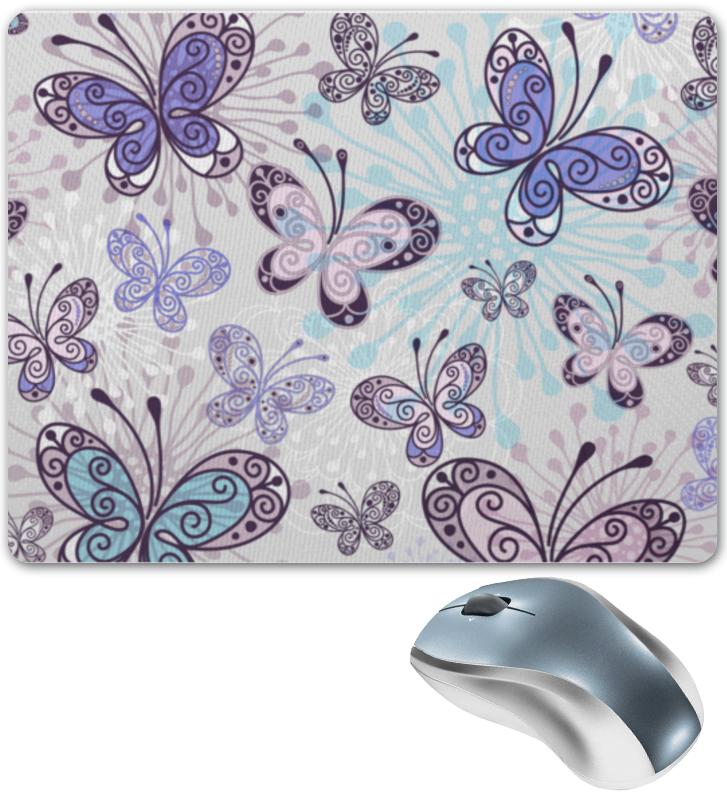 Коврик для мышки Printio Фиолетовые бабочки