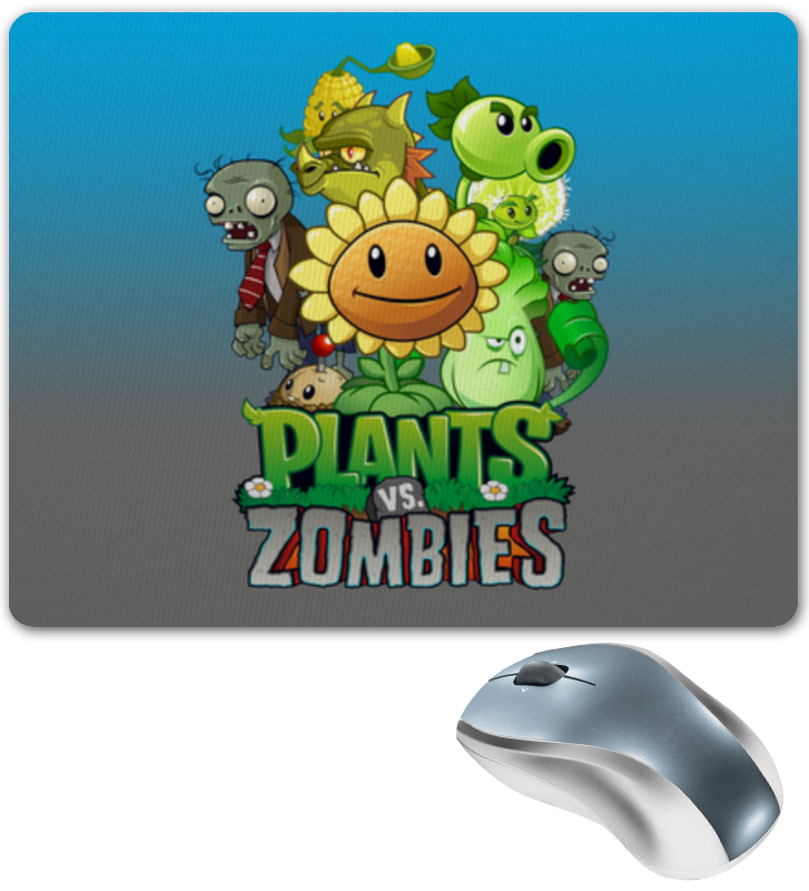 Коврик для мышки Printio Plants vs zombies 10pcs set plants vs zombies pvz collection figures snow zombies figure toys free shipping