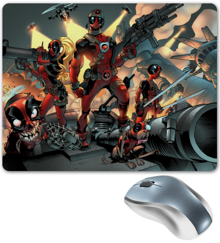 Коврик для мышки Printio Deadpool family