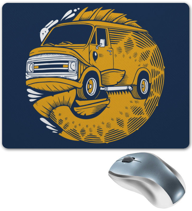 Коврик для мышки Printio Fish bus / рытобус (рыба автобус) билет на автобус пенза белинский