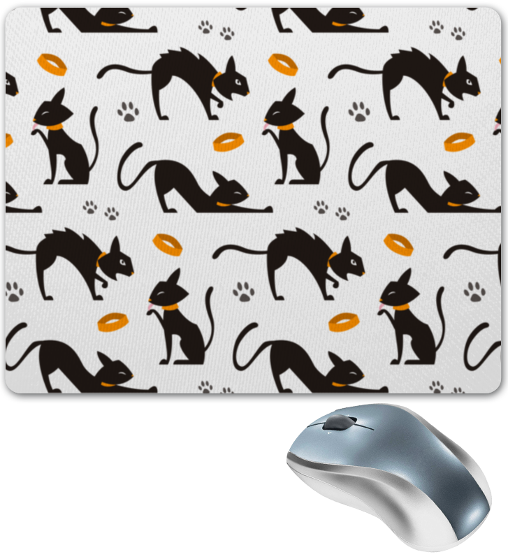 Коврик для мышки Printio Чёрные кошки чёрные бушлаты цифровая версия