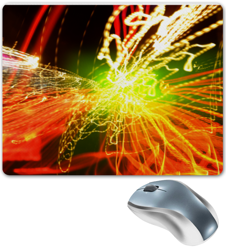 Коврик для мышки Printio Взрыв цветов на дороге