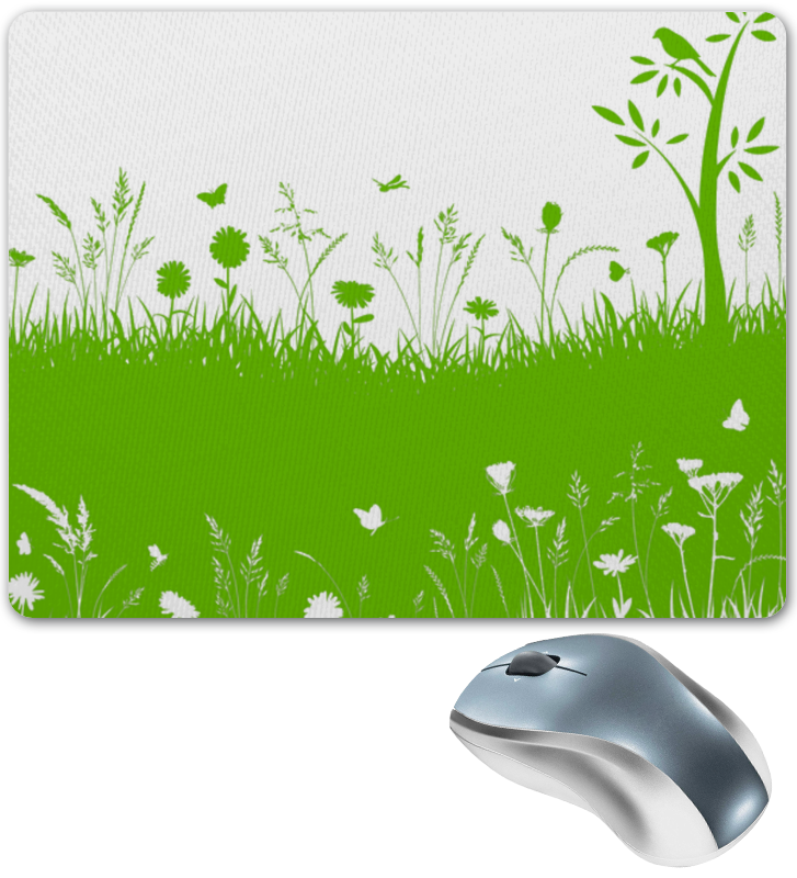 все цены на Коврик для мышки Printio Летняя трава онлайн