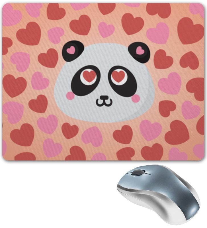 Коврик для мышки Влюбленная панда