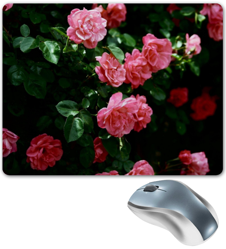 Коврик для мышки Printio Розы готика