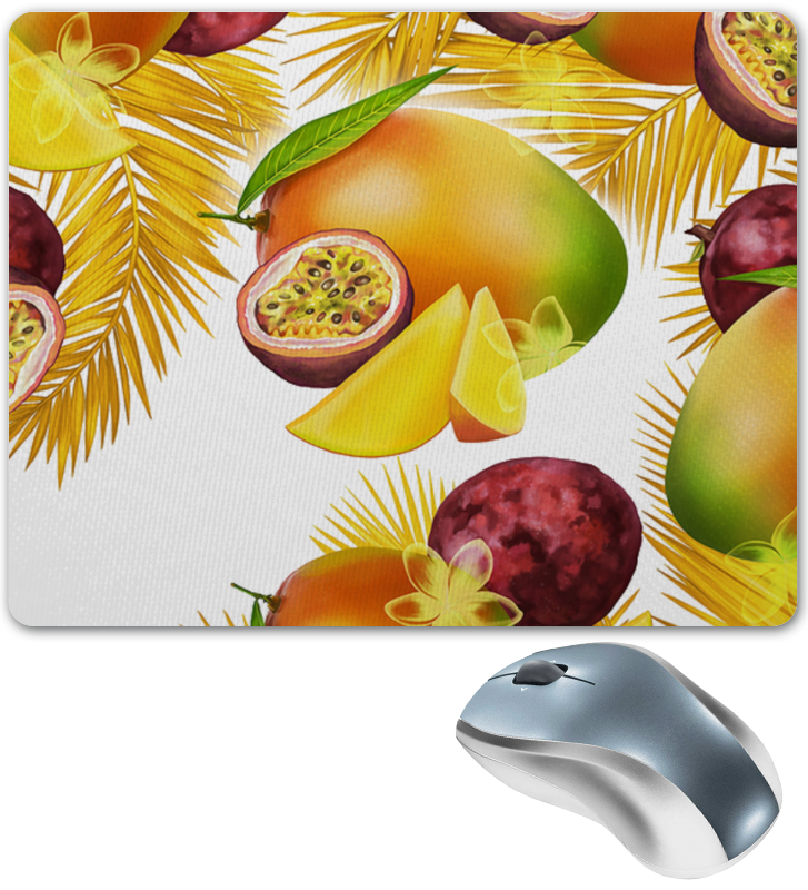 Коврик для мышки Printio Тропические фрукты сборник 500 кулинарных анекдотов для тех кто любит поесть