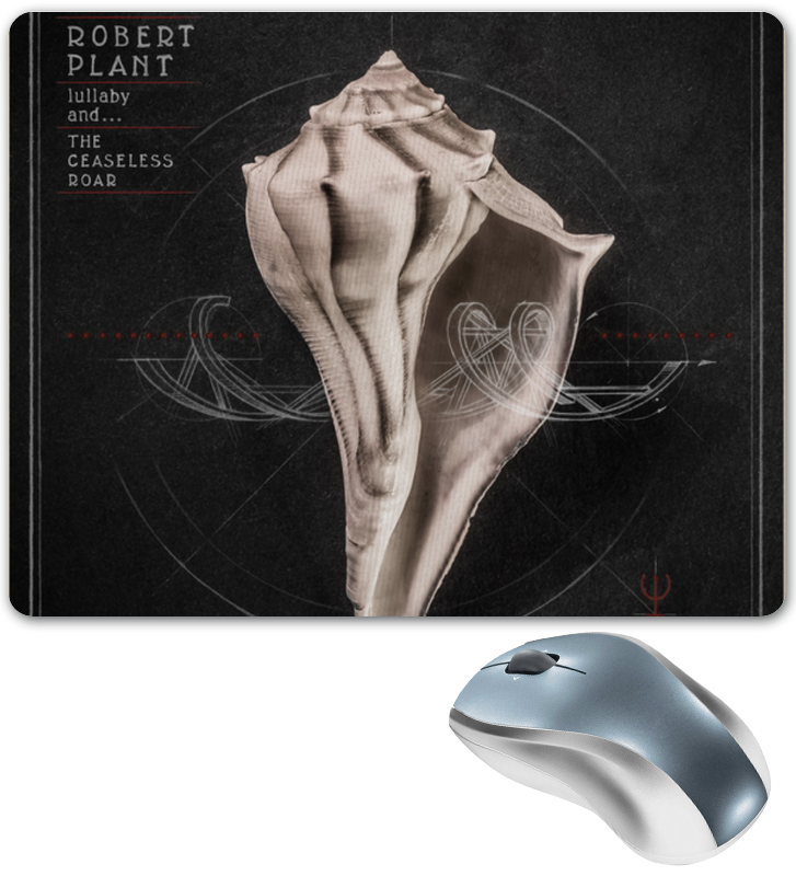 Коврик для мышки Printio Robert plant lullaby and… the ceaseless roar cd диск robert plant lullaby and the ceaseless roar 1 cd