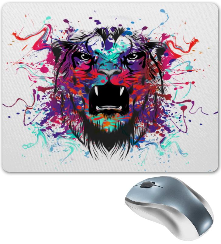 Коврик для мышки Printio Тигр красками цена