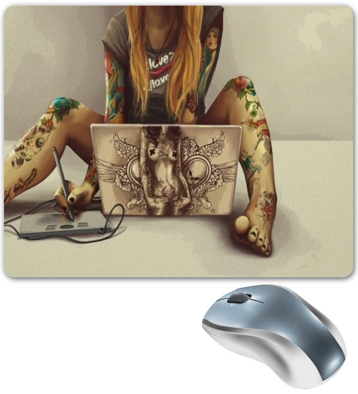 Коврик для мышки Printio Тату тату рукава tattoo sleeve тату рукав